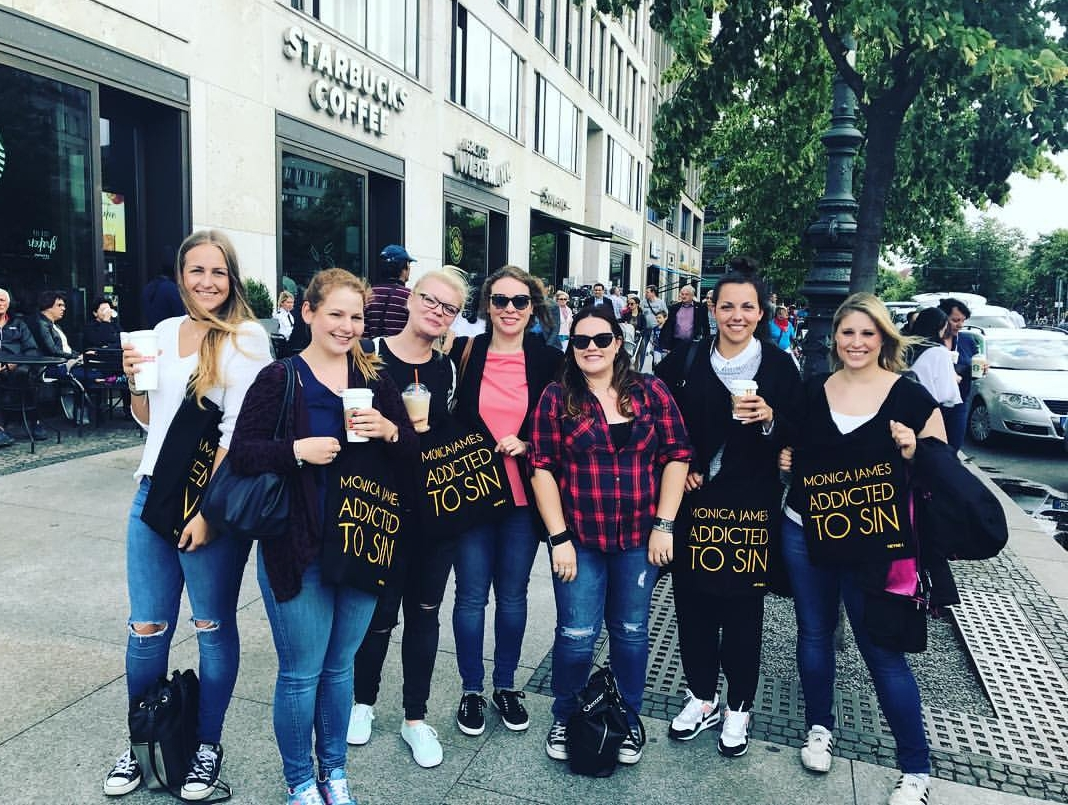 Blogger-Walk mit Monica James